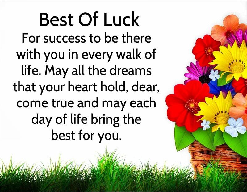 Good Luck Mwssages