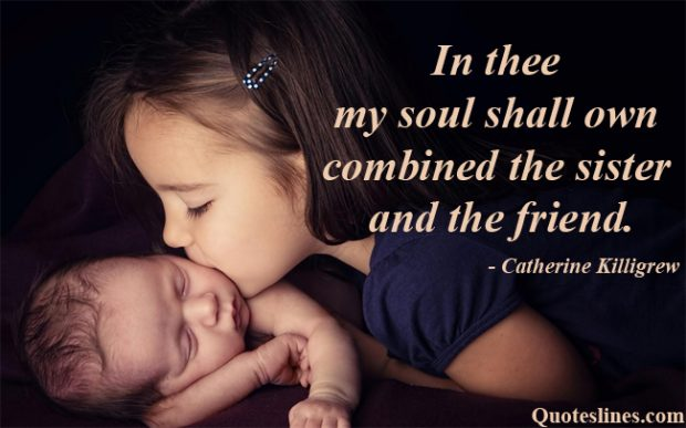 Little-Sister-quotes-with-Kissing-Newborn-Images
