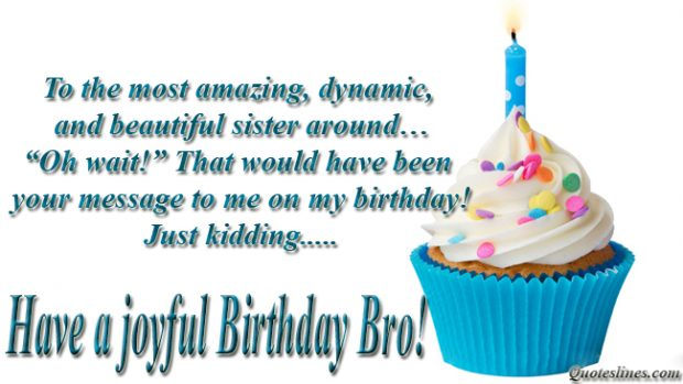 Funny Birthday Quotes Wishes Images For Brother