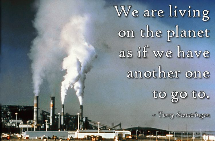 motivational thought on pollution