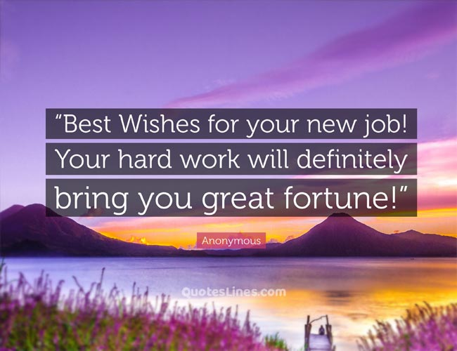 Best Wishes Quotes for New Job