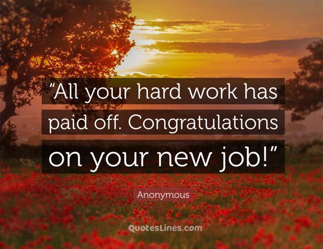 Congratulations Quotes for New Job