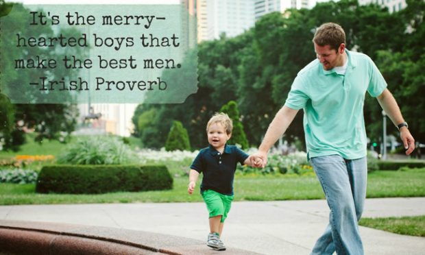 Merry-Hearted-baby-boy-quotes-irish-sayings