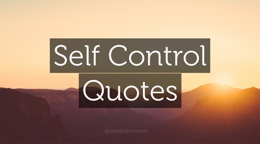 Self-Control-Quotes