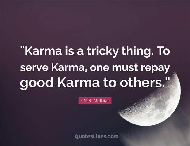 Short karma Quotes