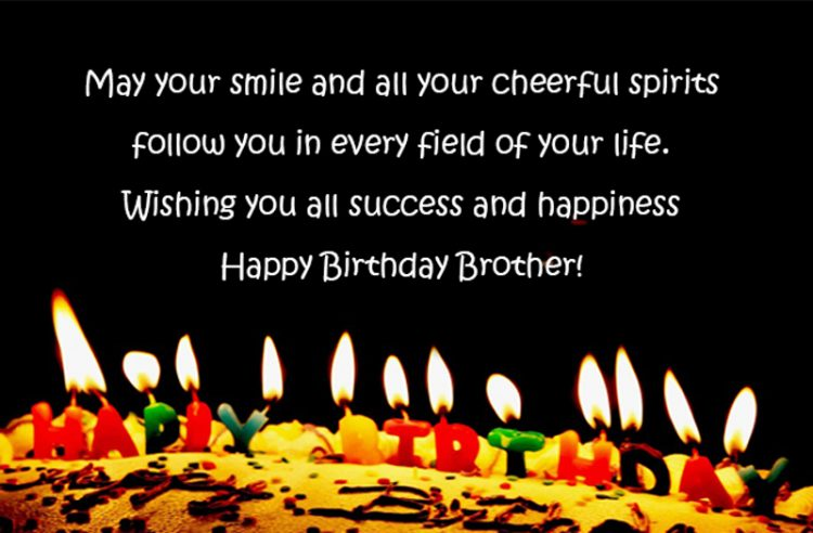 Amazing 40 Birthday Wishes For Brother With Pictures Quotes Wishing Happy Birthday