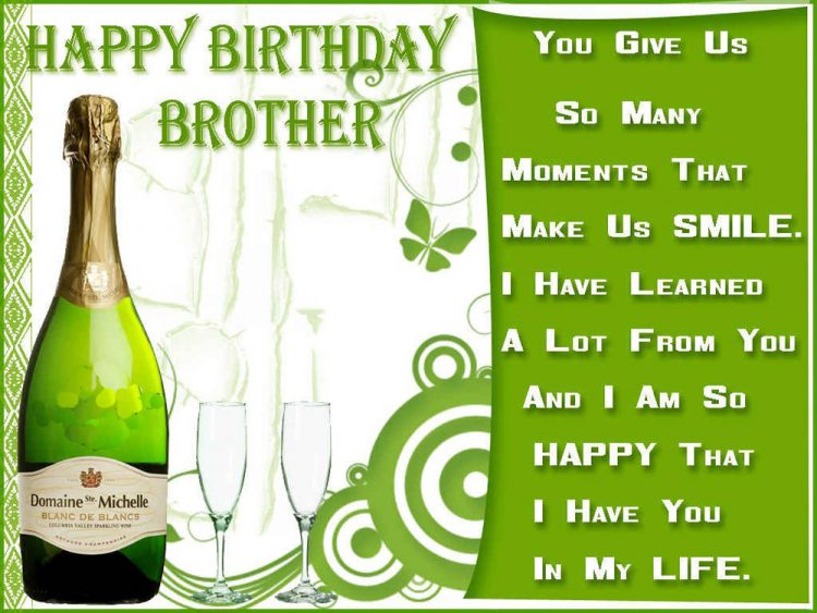 Amazing 40 Birthday Wishes For Brother With Pictures – Happy Birthday Greetings to a Brother