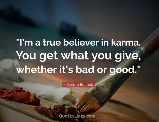 karma believer quotes