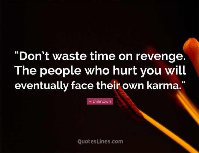 karma saying revenge