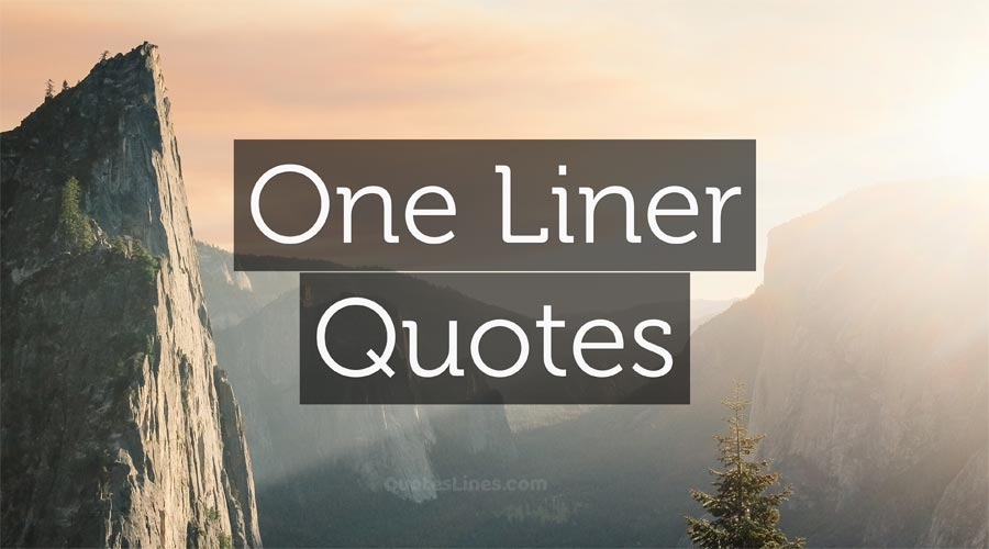 one liner quotes