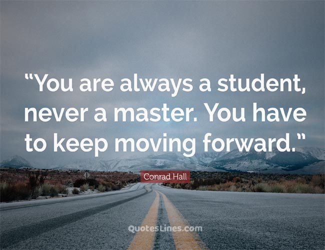 saying about keep moving forward